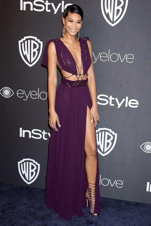 Chanel Iman, Golden Globe Awards, 2017
